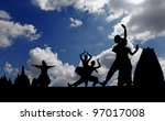 Silhouette Of Indian Classical...