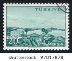 turkey   circa 1959  stamp... | Shutterstock . vector #97017878