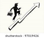 illustration of cartoon office...   Shutterstock .eps vector #97019426