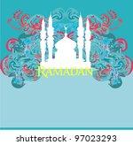 ramadan background   mosque... | Shutterstock .eps vector #97023293