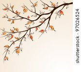 stylized autumn tree branch on... | Shutterstock .eps vector #97026524