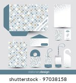 stationery design set in... | Shutterstock .eps vector #97038158