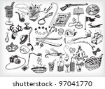 black and white holiday... | Shutterstock .eps vector #97041770