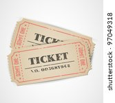 old vector vintage paper... | Shutterstock .eps vector #97049318