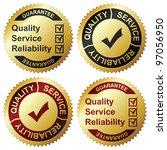 golden labels | Shutterstock .eps vector #97056950