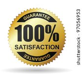 Satisfaction guarantee - stock vector
