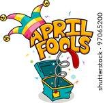 illustration celebrating april... | Shutterstock .eps vector #97065200