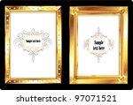 gold picture frames.   Shutterstock .eps vector #97071521