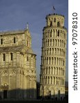 Leaning Tower of Pisa. - stock photo