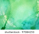 abstract colorful watercolor is ... | Shutterstock . vector #97084253