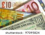 dollar  franc  euro  pound...   Shutterstock . vector #97095824