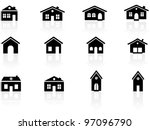 house and buildings icons | Shutterstock .eps vector #97096790