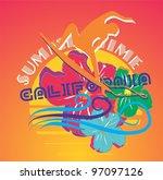 summer time | Shutterstock .eps vector #97097126