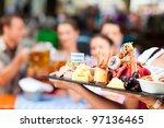 beer garden restaurant in... | Shutterstock . vector #97136465