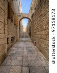 Alleyway In The Old City Of...