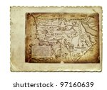 old part of africa   mystic map ...   Shutterstock . vector #97160639