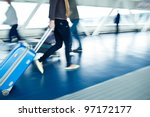 Airport Rush  People With Thei...