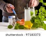 salad preparation | Shutterstock . vector #97183373