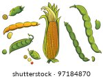 cereals collection | Shutterstock .eps vector #97184870