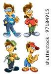fashionable boy | Shutterstock .eps vector #97184915