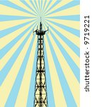 antenna spreading rays   Shutterstock .eps vector #9719221