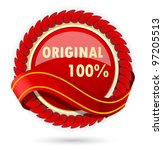 design element with red lable... | Shutterstock .eps vector #97205513