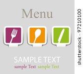 menu icons | Shutterstock .eps vector #97210100