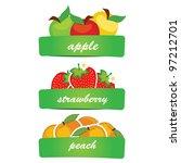 vector fruit | Shutterstock .eps vector #97212701