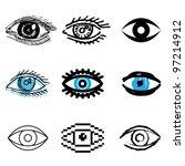 eye icons vector set | Shutterstock .eps vector #97214912