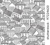 Seamless Pattern Town Houses....