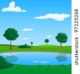 vector landscape | Shutterstock .eps vector #97225268
