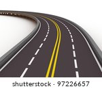 turned left asphalted road... | Shutterstock . vector #97226657