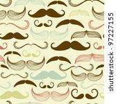 art deco mustache seamless... | Shutterstock .eps vector #97227155