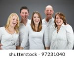 studio portrait of family with...   Shutterstock . vector #97231040