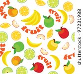 vector fruit pattern | Shutterstock .eps vector #97231988