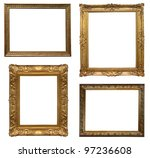 old antique frame   set of four ... | Shutterstock . vector #97236608