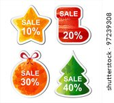 color christmas sale set for... | Shutterstock .eps vector #97239308