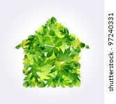 green eco house icon made of... | Shutterstock .eps vector #97240331