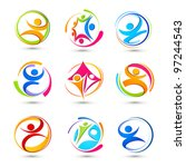 sports icons of people | Shutterstock .eps vector #97244543