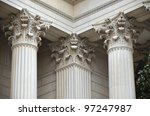 Stock photo greek column detail of national archives 97247987