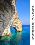 blue caves in zakynthos island | Shutterstock . vector #97250846