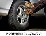 lug nuts are removed so that a... | Shutterstock . vector #97251380
