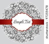 flower stripe invitation love... | Shutterstock .eps vector #97255478
