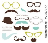 retro party set   sunglasses ... | Shutterstock .eps vector #97257377