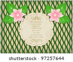 vintage background with blossom ... | Shutterstock .eps vector #97257644