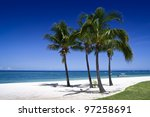 beautiful tropical beach in... | Shutterstock . vector #97258691