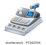 vector illustration of cash... | Shutterstock .eps vector #97262534