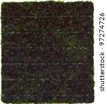 nori dried sheet isolated over ...   Shutterstock . vector #97274726