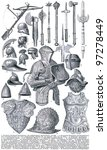 knightly armor and weapons.... | Shutterstock . vector #97278449