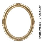 oval photo frame clipping path   | Shutterstock . vector #97285829